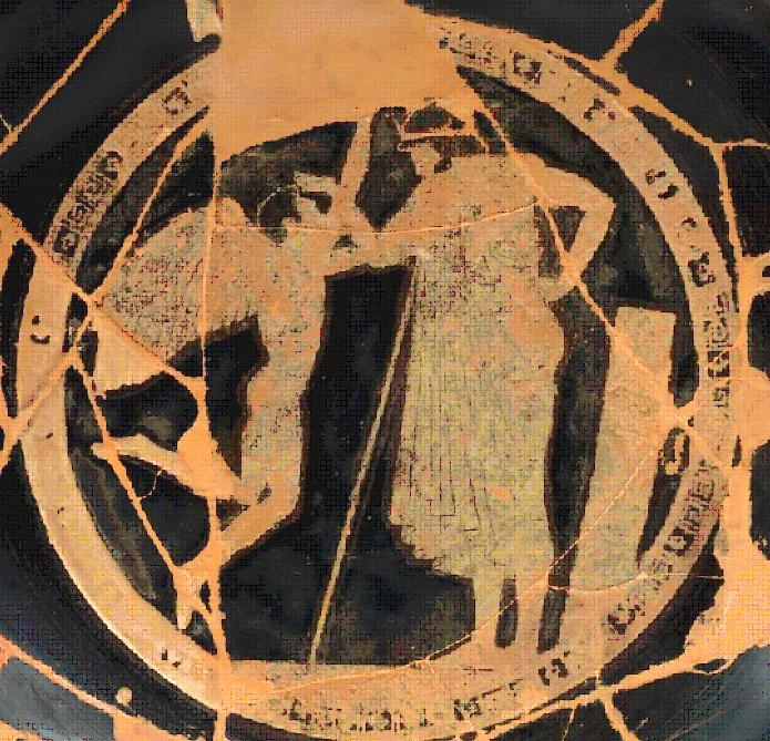 Foto conc. SAT dell'immagine contenuta nella kylix di Douris 475 a.C.